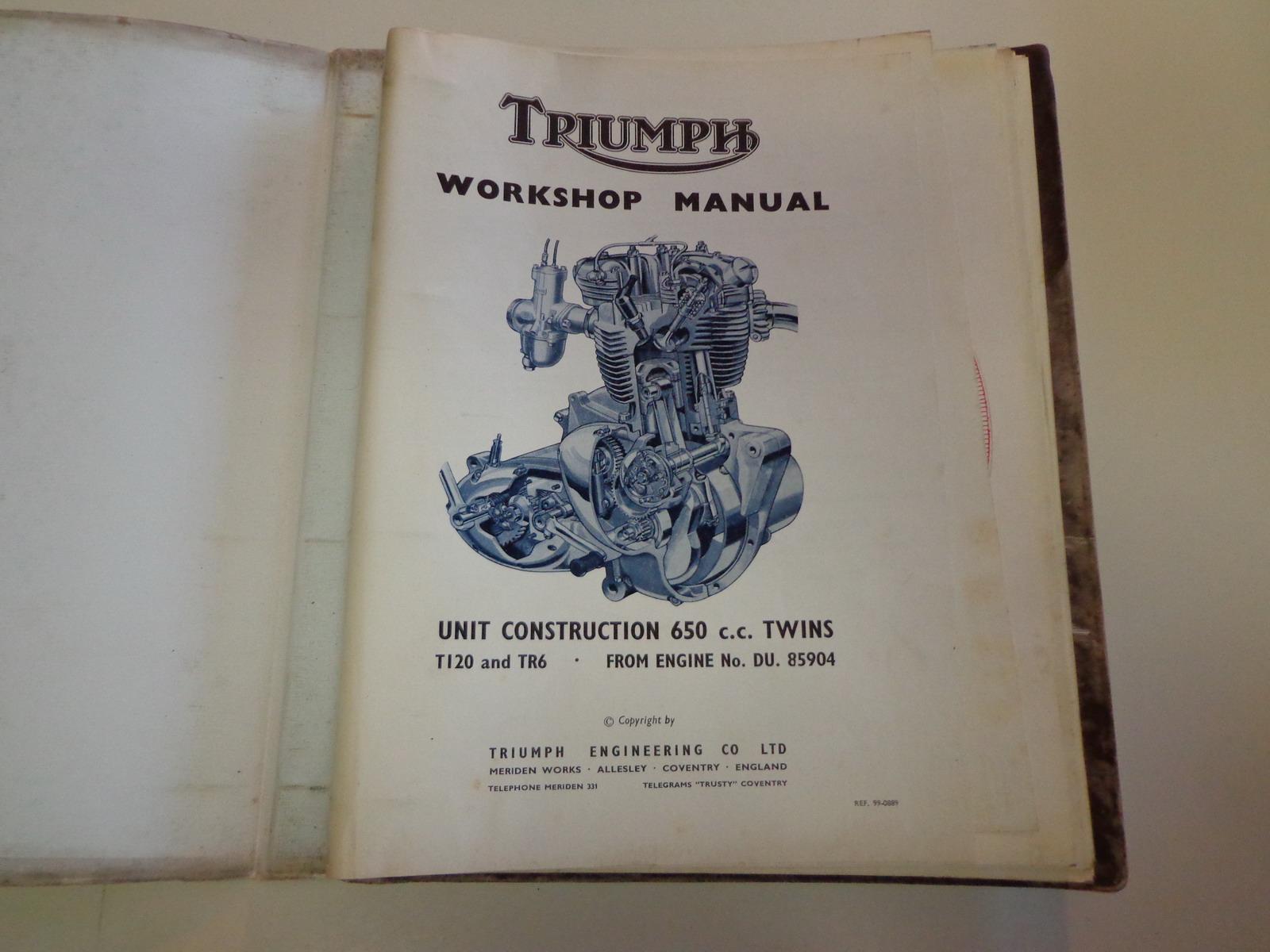 triumph bonneville workshop manual pdf