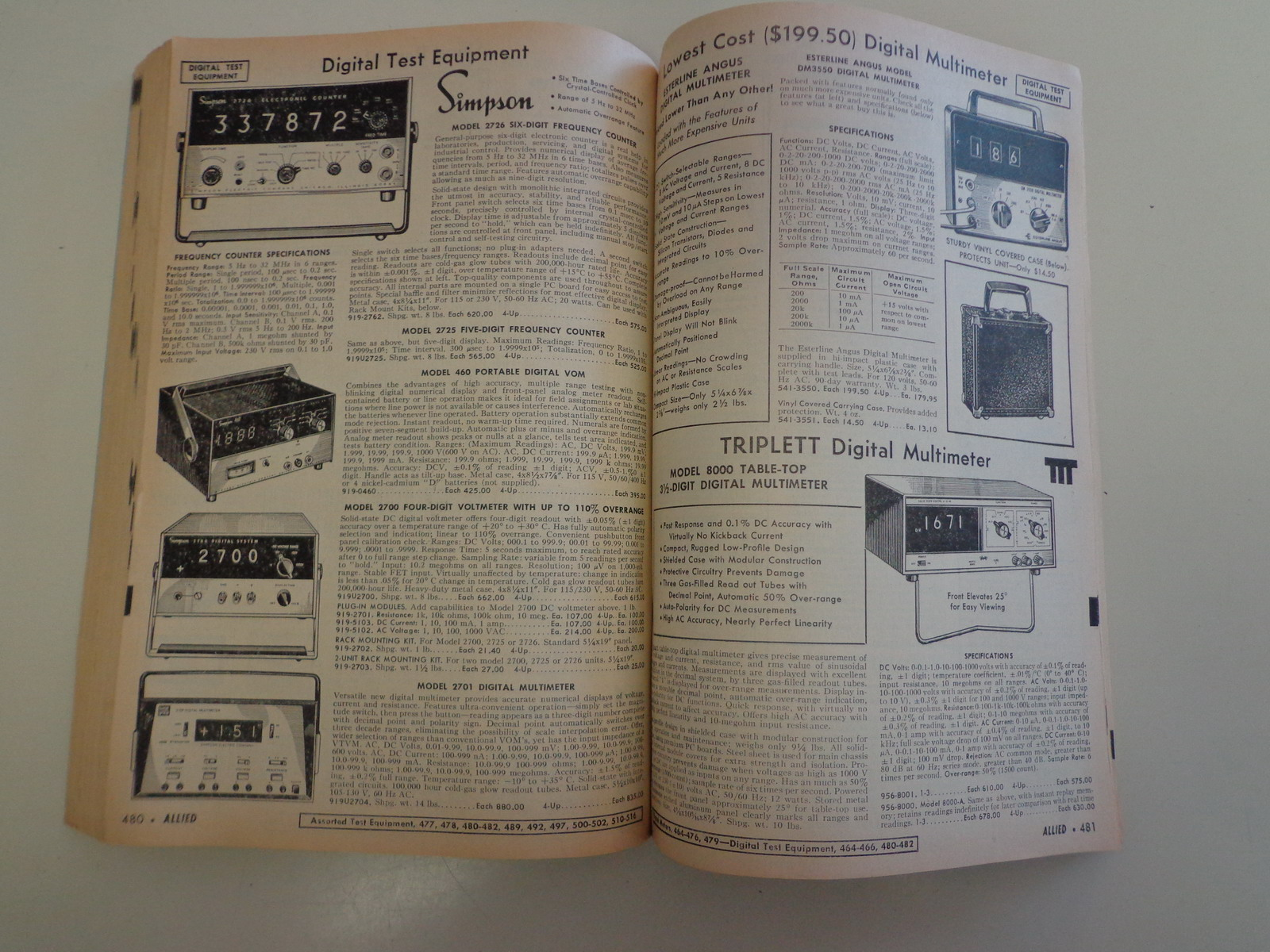 Electronics Test Equipment Supply : Allied electronics industrial catalog testing