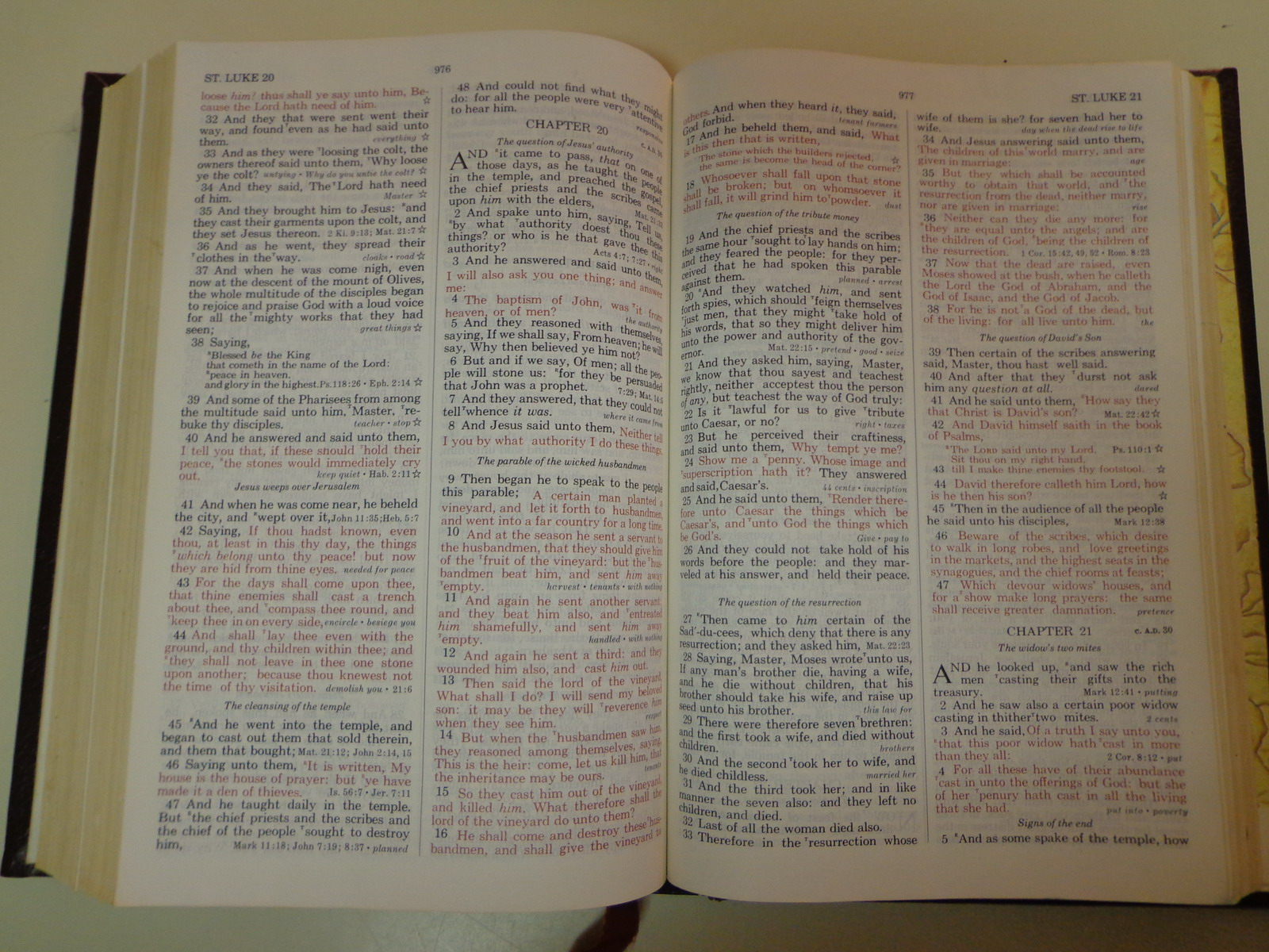 Holy bible new open bible kjv red letter 1975 thomas for New american standard bible red letter edition