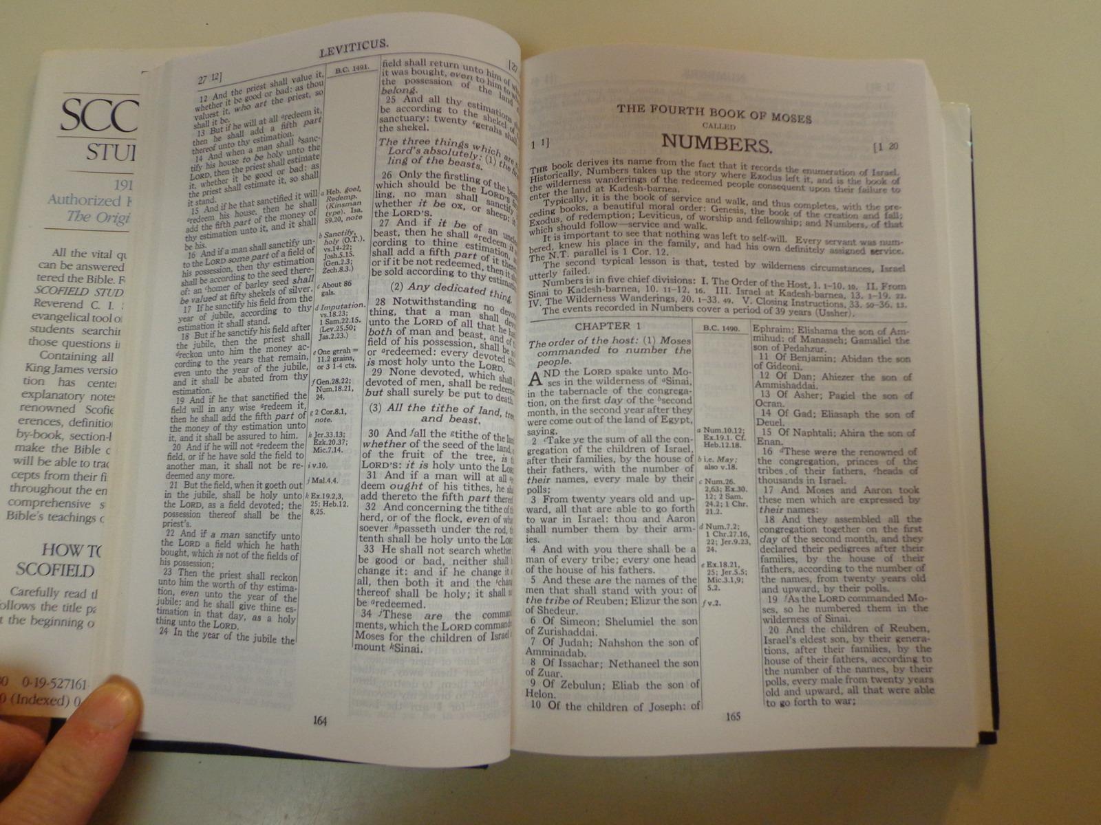 The New Scofield Study Bible 1989 HBDJ New King James