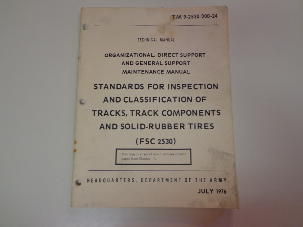 Army Track Tire Vehicle Inspection Technical Manual 1976